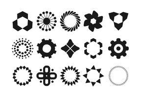 Ensemble de forme géométrique vecteur