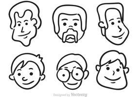 Vecteurs de visage de l'homme