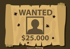 Bullet Holes On Wanted Poster vecteur