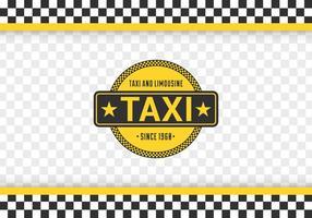 Fond libre de tableau de damier de taxi vecteur