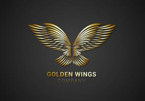 Vecteur logo gratuit en or doré