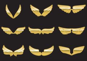 Vecteur ailes dorées