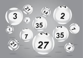 Vecteurs de balles Lotto vecteur