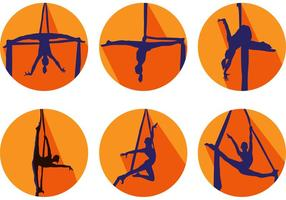 Vecteurs de silhouette de gymnastique vecteur