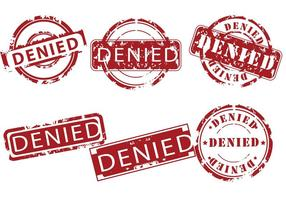 Vecteurs de timbres refusés vecteur