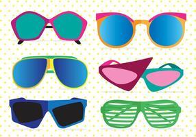 Vecteurs de lunettes de soleil des années 80 vecteur
