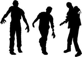 Vecteur de silhouette zombie gratuit