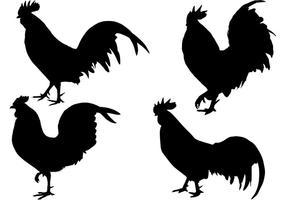 Vecteur de silhouette de coq gratuit