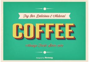 Affiche typographique vintage de café vecteur