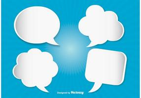 Ensemble de bulles de discours moderne vecteur