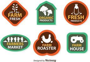 Icônes de logo Vector Farmers