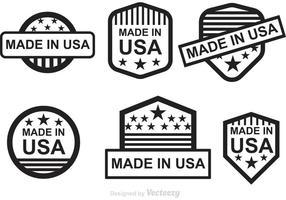 Étiquettes noires fabriquées aux États-Unis vecteur