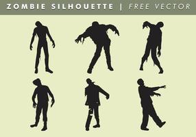 Zombie silhouette vectoriel gratuit