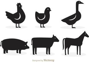 Vecteurs de silhouette animale