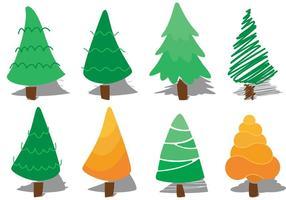 Vecteurs d'arbres de cèdre vecteur