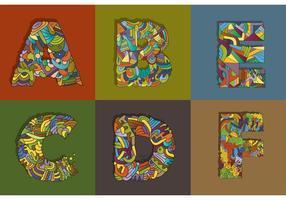 Illustration des lettres vectorielles