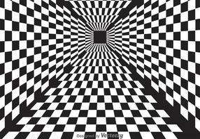 Vector de fond abstrait Checker