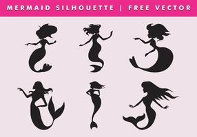 Mermaid silhouette vector free