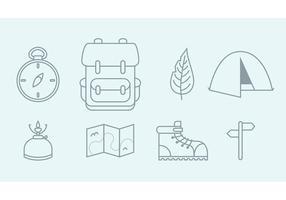 Icônes de camping vectoriel