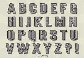 Ensemble Alphabet Vintage vecteur
