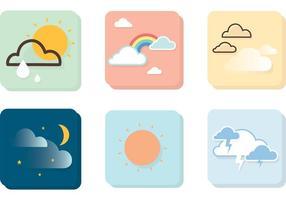 Icônes de vecteur météo