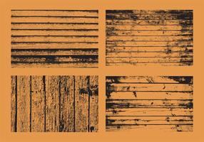 Vecteurs de bois grunge vecteur