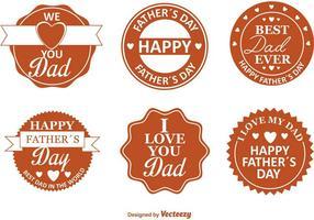 Badges rétro du jour du père vecteur