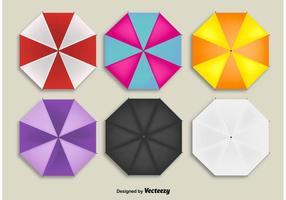 Parapluies de plage vecteur