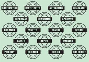 Vecteurs de timbres de cercle vecteur