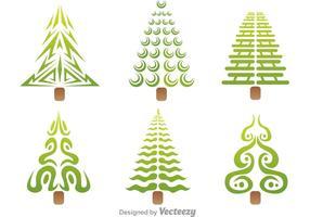 Icônes stylisées de vecteur d'arbre