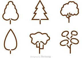 Vecteurs de contour d'arbre vecteur