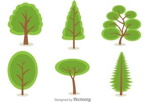 Vecteurs arbres verts vecteur