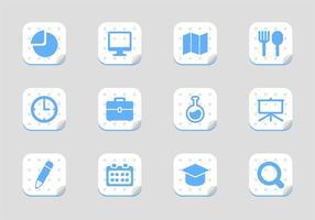 Vecteurs d'icônes libres de l'école vecteur