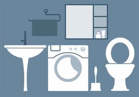 Éléments vectoriels de salle de bains gratuits vecteur