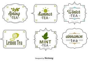 Étiquettes de thé saisonnières vecteur