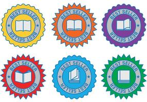 Badges de vecteur de livre Best Seller