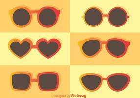 Vecteurs de lunettes de soleil à la mode vecteur
