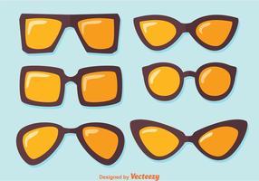 Vecteurs de lunettes de soleil vecteur