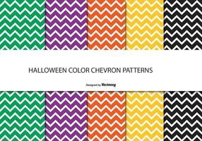 Ensemble de motifs Chevron Halloween vecteur