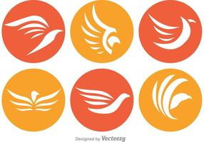 Logos de cercle de hawk vecteur