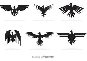 Logos de faucon noir vecteur