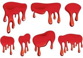 Goutte de sang vecteur