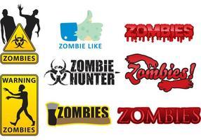 Logos zombies vectoriels vecteur