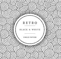 Modèle de cercles en noir et blanc de vecteur libre