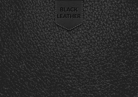Fond noir en cuir noir vecteur