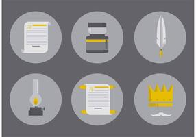 Vecteurs d'outils d'écriture fantastiques