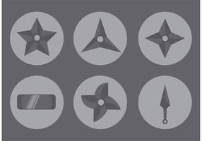 Icône Star Ninja vecteur