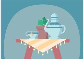 Grands vecteurs de thé vecteur