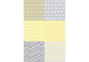 Motifs floraux jaunes vecteur