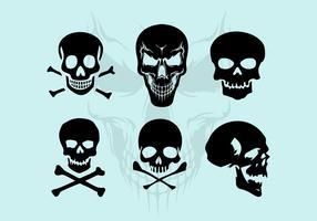 Illustrations de silhouette de crâne vectoriel